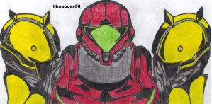 colored samus by likeaboss90