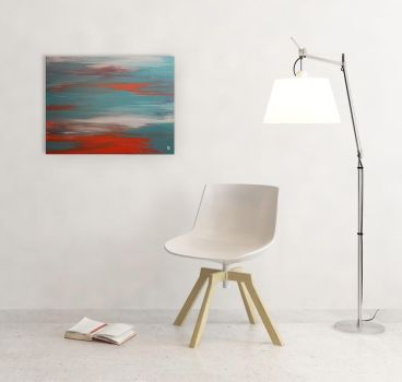 Clearwater - Original Abstract Acrylic Painting by Acrolyth
