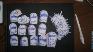 Heads 2 (stickers) by Pindas200