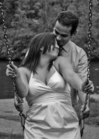 Swinging Love black and white by Tranquil-Insanity