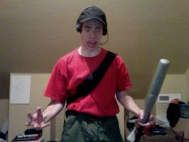 TF2 - Scout Cosplay Test 01 by Jovey4