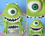 Mike Wazowski Cake by cakecrumbs
