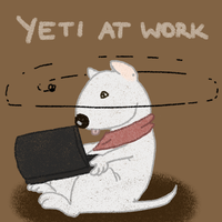 Yeti at work by DesmodiaDesigns