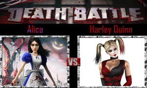 Alice vs Harly Quinn by SonicPal