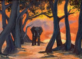 Elephant in Africa by bananacosmicgirl