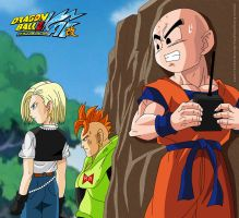 Krillin and the Androids by kingvegito