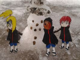 Deidara,Sasori and Tobi Paperchild by Wanna-be-Kiwi