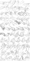 100 Sketch Challenge In 1 Day - Hands - Round #003 by anime-master-96