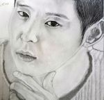 Park Yoochun completed portrait, July of 2015 by onthethruway