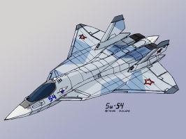 Sukhoi Su-54-2 by TheXHS