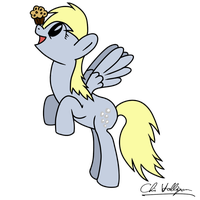 Derpy and her muffin! by Chrispy248