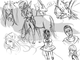 doodles and some crunch time by Soranova