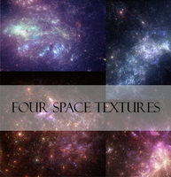 Four Space Textures by JulieKrizan