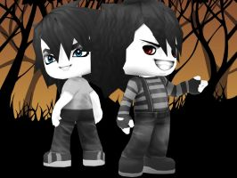 Laughing Jack And Jeff The Killer by ZaLDoS