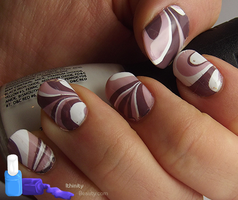 Icecream Water Marble Nails by Ithfifi