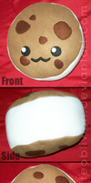 Ice Cream Cookie Plush by WhiteOblivion
