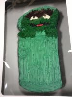 Oscar the Grouch Cake by BowserHusky