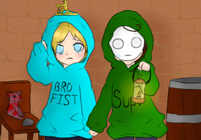 pewdiecry chibi's vs amnesia by tthe13th