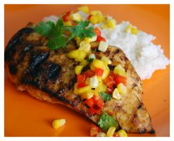 Jerk Chicken with Mango Salsa by cb-smizzle