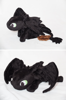 Toothless - How to Train Your Dragon Plush by tiny-tea-party