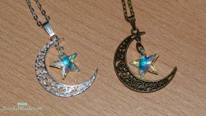 Half Moon and Swarovski Stars by Narwhal-Blueberry