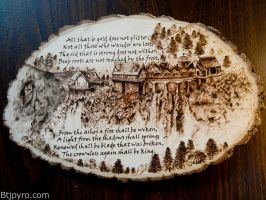 Lord Of The Rings - Wood burning - Remake #2 by brandojones