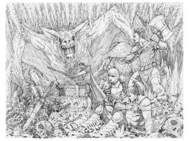Battle with Ugon by theblackoutsyndrome
