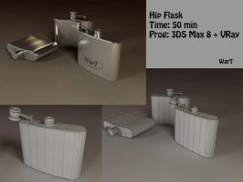 Hip flask by wart84