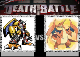 Wargreymon Vs Mega Charizard by VitamineJJC