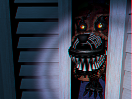 Nightmare Foxy Closet 3D by Cosmicmoonshine