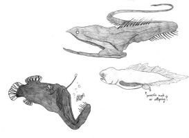 Sketch - Deep sea fishes by Nikama
