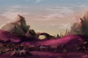 otherworldly landscape 2 by nebulae-decay