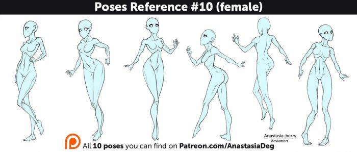 Poses Reference #10 (female) by Anastasia-berry