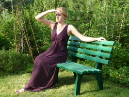 lady - garden bench 3 by indeed-stock