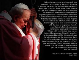 Pope John Paul II on Peace by touch-the-flame