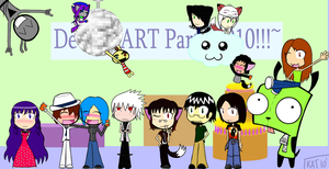 .:DA Party Group Photo 2010:. by KitKatMuffin