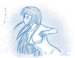 Hinata Waterfall Sketch by shock777