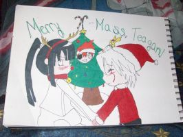 Unfinished Christmas  card by Shippofoxfire13