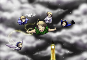 Peter Pan Hetalia by TriaElf9