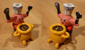Chef Kirby Figurine by Jelle-C