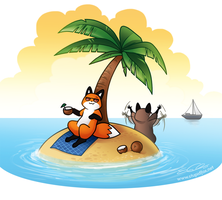 Vacationfox by SilentReaper