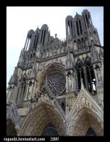 Cathedrale Notre Dame in Reims by Rayashi