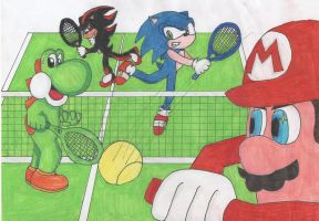 M and S Tennis! by Elise-the-Hedgehog98