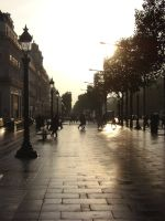 Champs Elysees al mattino by cridefea