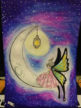 The Fairy and the Moon by RazeSilverlake