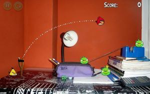Angry Birds in my desk by danielboveportillo