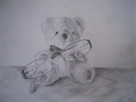 Teddy with glassess by 13SweetYuna13