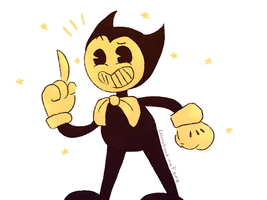 Bendy and the ink machine doodle by ChloesImagination