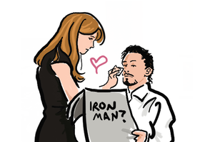 Tony and Pepper by Kuri-ishi