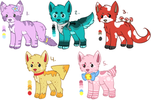 Canine Adopts 4 (3/5 OPEN) by all-type-adopts